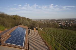 Foto dell'impianto fotovoltaico
